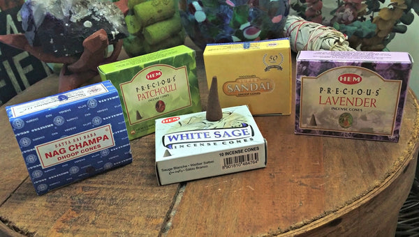 Incense Cones to relax, unwind, release in assorted fragrances; FB1816