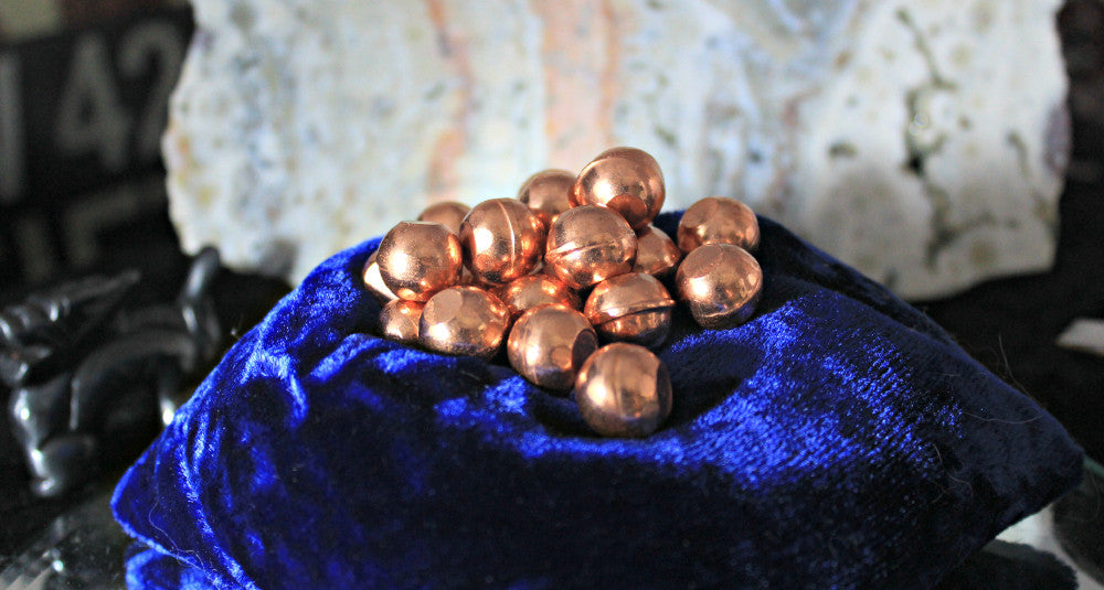 Copper Mini Spheres with Flat sides for boosting and enhancing; FB1781