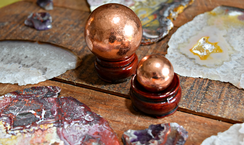 "Copper Sphere - Known as the ""Healing Metal"" & the ""Lucky Metal"""