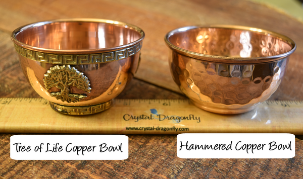 Copper Bowls, Assorted emblems, Altar, Ritual, Incense or Blessing bowls; FB1580