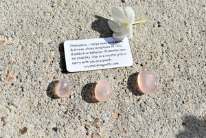 Tumbled Pink Chalcedony; FB1604