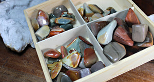 Tumbled Desert (Polychrome) Jasper Free Form for stability, focus, nurturing; FB1925