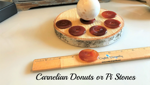 "Premium Gemstone ""Donuts"" or Pi Stones for Jewelry or Sphere Stand; FB1738"