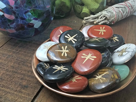 Dragonfly Highly  Polished Totem or Spirit Stones - de-Stress!