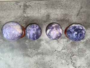 Silky Purple Fluorite Sphere for focus, memory, intuition, intellect; FB2823