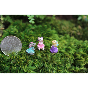 Fairy Garden / Miniature Accessories - Mini Eenie, Meenie & MIney Mouse set of 3- FB1641