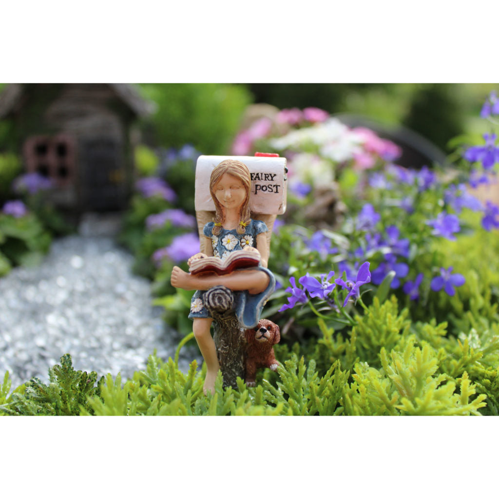Fairy Garden / Miniature Accessories - Fairy Waiting on Mail; FB1808