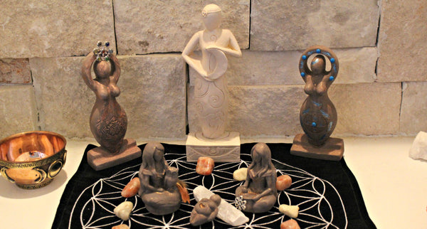 Goddess Figurines, Moon, Spring, Lotus, Nurturing, Eagle and more :)  FB1154