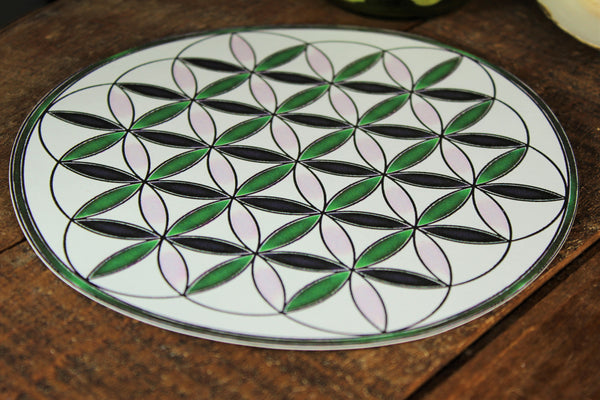 Sacred Geometry Crystal Grid Base / Layout / Card-stock Flower of Life
