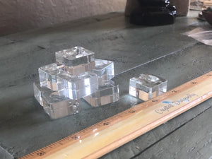 Clear Square Glass Cube Stand, FB2643