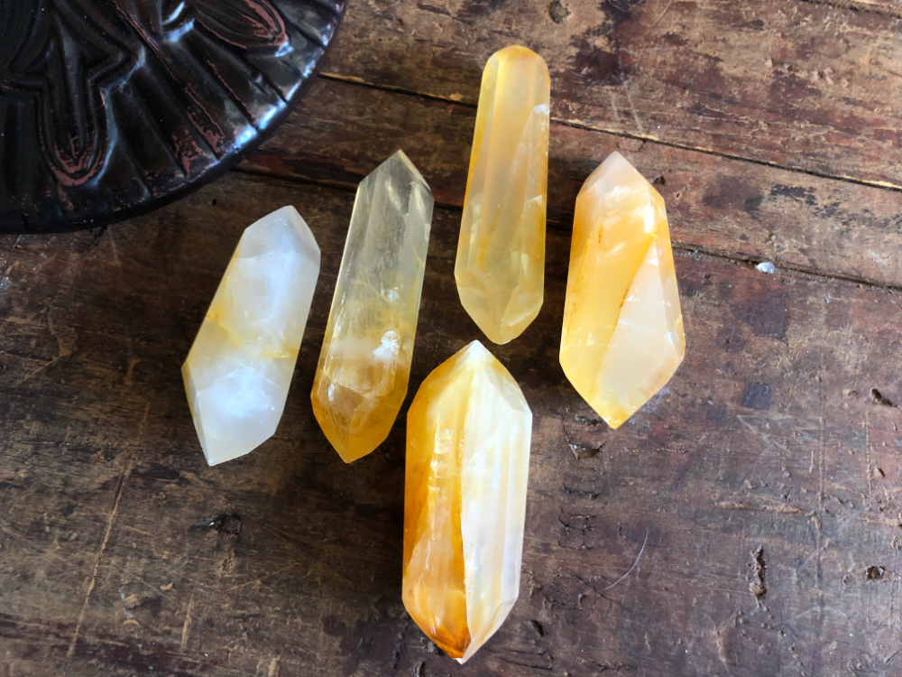 Golden Healer Quartz Double Terminated Wands from Madagascar; FB1193