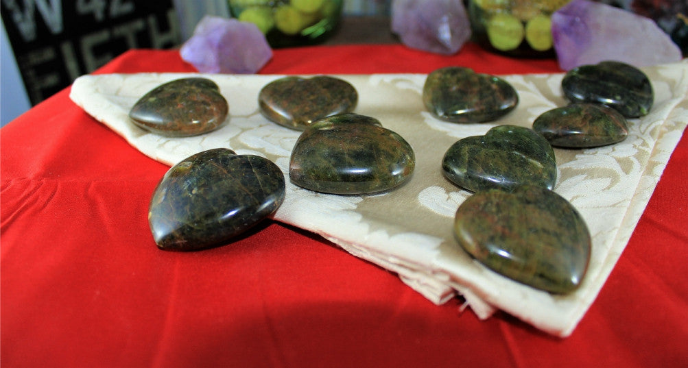 Green Apatite Hearts for insight, joy and abundance
