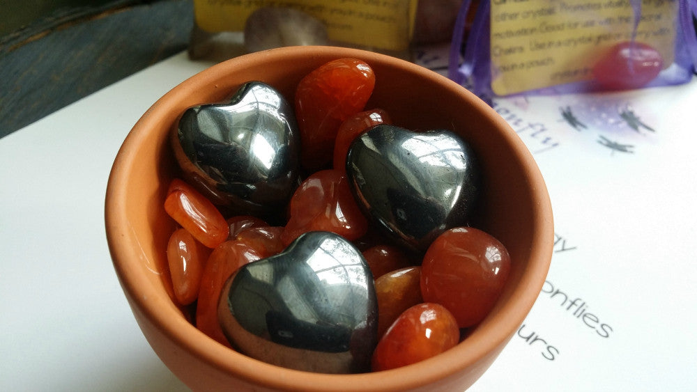 Hematite Pocket Heart - Grounding and Focus