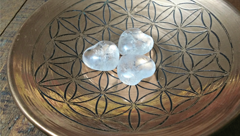 Clear Quartz Pocket Hearts -Beautiful Clarity - Inner Light Reflections - Stone of Power