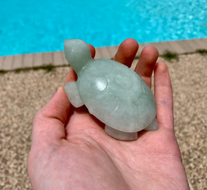 Turtle Carving, Large - Spirit Turtle, Assorted Gemstones; FB2044