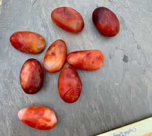 Carnelian Hand Pebbles for personal power, vitality, and passion; FB1840