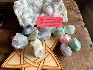 Rainbow Fluorite or Green Fluorite Rough for relationships, stress and creating order; FB1504