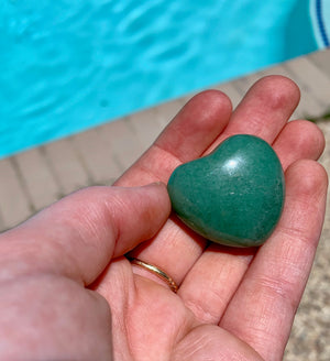 Green Aventurine Hearts for confidence, intuition & to neutralize stress