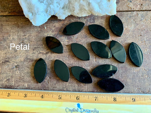 Black Obsidian Glossy Cabochons, grounding, protection; FB2332
