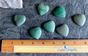 Green Aventurine Heart Shape Cabochons; FB2365 🚛🏡🚛Moving Special🚛🏡🚛