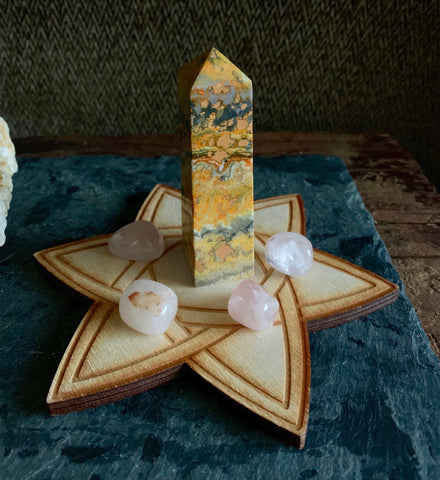 Bumblebee Jasper Obelisk - Joyful and Energizing; FB2391