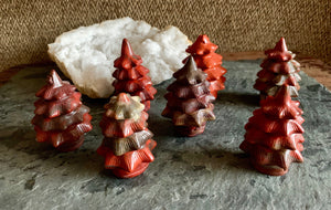 Red Jasper Standing Round Holiday Tree; FB2392 🚛🏡🚛Moving Special🚛🏡🚛