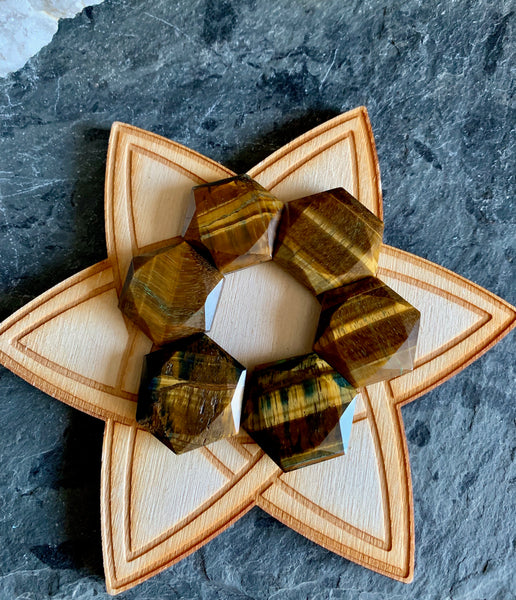 Hexagon Carved Six Sided Star - Star of David - Sacred Geometry; FB2349 🚛🏡🚛Moving Special🚛🏡🚛