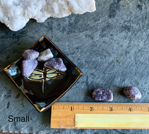 Tumbled Lepidolite, Deep Purple Matte finish - Hope, Stress, Anxiety, Depression & Love' FB1744