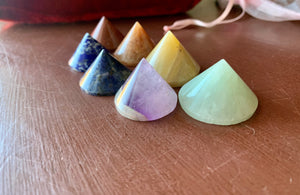 Chakra Conical Pyramids, collection of 7; FB1794