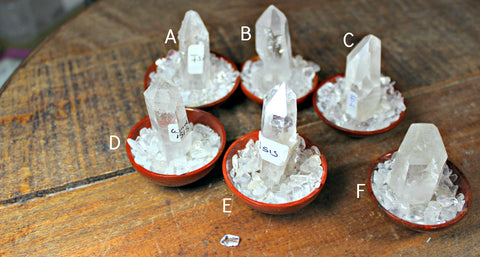 Clear Quartz Isis Points from Brazil, Goddess crystal