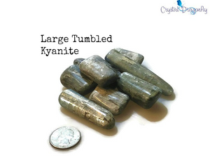 Tumbled Polished Kyanite - Calming, Facilitator of Meditation & Aligns all Chakras; FB1707