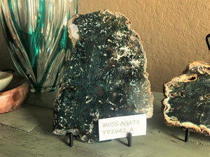 Moss Agate Slab - Forest Green - Abundance - Protection - Anxiety - Stress, FB2642