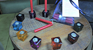 Mini Ritual / Altar Glass Candle Holders
