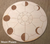 Wood Round Crystal Grid Bases, Assorted Patterns; FB1246