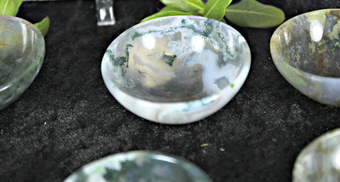 Moss Agate Bowls for your personal altar or sacred space