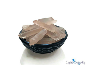 Pink Lemurian Crystal, Natural Points; FB1564