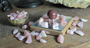 Tumbled Pink Opal from Peru for tranquility, calm and uplifting