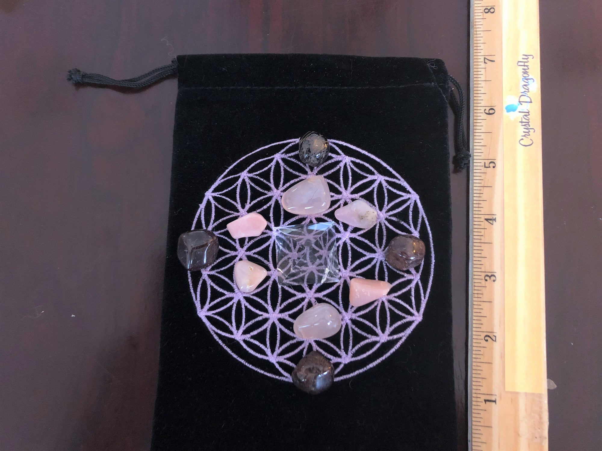 Pink Stones with Garnet Flower of Life Collection, FB1927