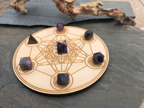 Sacred Geometry Collection - Platonic Solids - Amethyst; FB2047