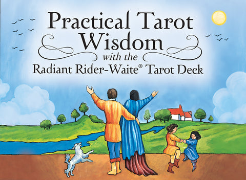 Practical Wisdom Beginner Tarot Cards with Tumbled Jasper in a drawstring pouch, FB1814