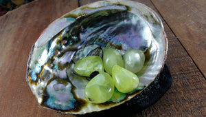 Tumbled Prehnite for Truth, Intuition, Calm, Dreaming & Love