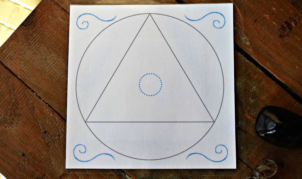Sacred Geometry Crystal Grid Layouts Laminated Bases Fb1395