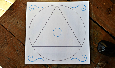 Sacred Geometry Crystal Grid Layouts - Laminated Bases; FB1395