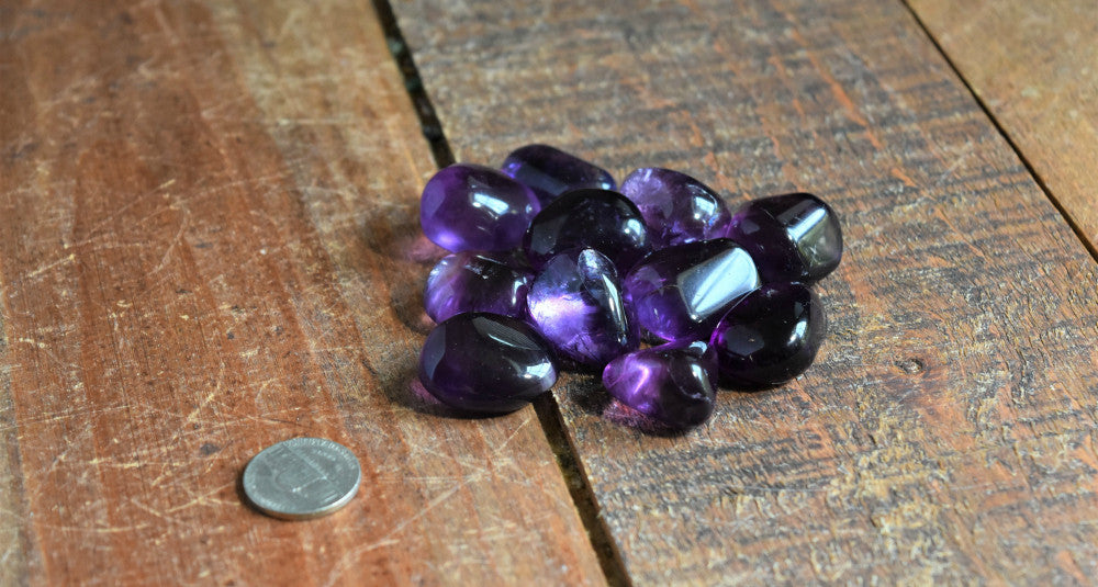 Tumbled Gemmy Purple Fluorite for Confidence, Stress & Negative Energy