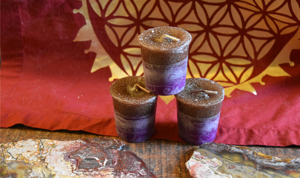 Reiki Charged, Hand-Poured Candle - Patchouli/Nag Champa