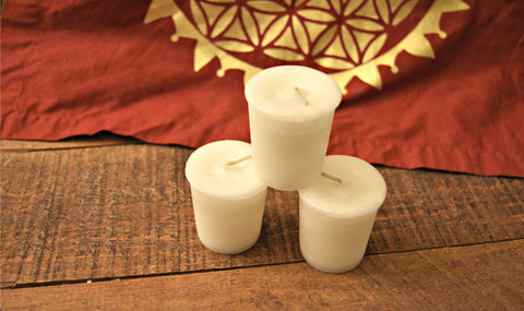 Reiki Charged, Hand-Poured Candle - White Sage