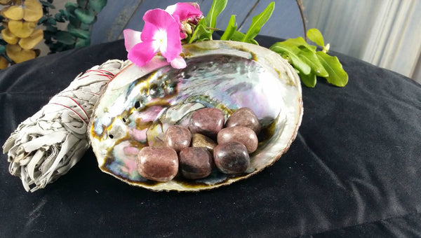Tumbled Rhodonite - Stone of Love, Confidence, Eases Nightmares & Heartache