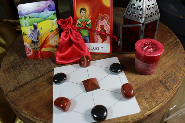 Root Chakra Balancing Satin Pouch Collection
