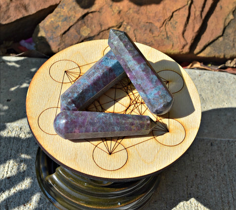 Ruby in Kyanite Single Terminated Wands; FB1362