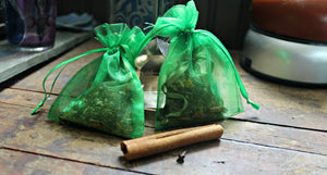 Dragonfly Wings - Crystal Essential Sachets - Calm , Tranquil Dreams, Focus, Energize, Protection, Business Prosperity